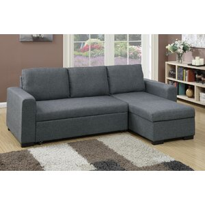 Bobkona Jassi Sleeper Sectional