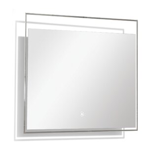 Reviews Ritchie LED-Backlit Wall Mounted Mirror By Orren Ellis