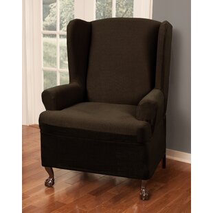 T-Cushion Wingback Slipcover By Charlton Home