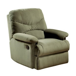 Hiltner Fabric Upholstered Manual Wall Hugger Recliner by Red Barrel Studio