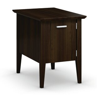 Caravel Currents Collection Chairside Table With Door