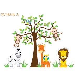 Nursery Jungle, Tree, Giraffe And Safari Wall Decal Part 57