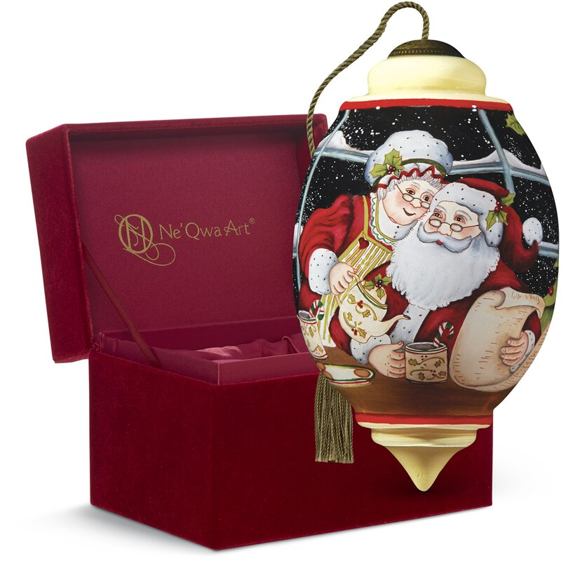 """Precious Moments """"Santa and Mrs. Claus"""" Trillion Shaped Glass ..."""
