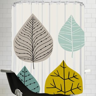 Price Check Leaves Shower Curtain ByEast Urban Home
