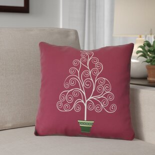 Filigree Tree Outdoor Throw Pillow