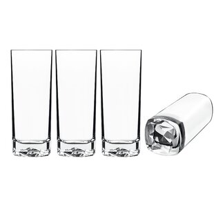 465744748502 On the Rocks 15 Oz. Glass Highball Glasses (Set of 4)