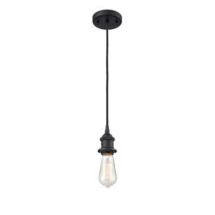 Williston Forge Naswith 1-Light Bulb Pend..