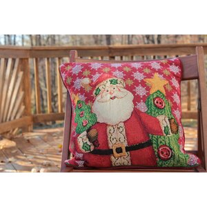 Santa Claus is Coming to Town Throw Pillow Cushion Cover (Set of 2)