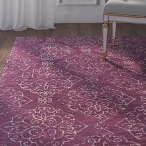 Chaudeville Hand-Tufted Lilac Area Rug