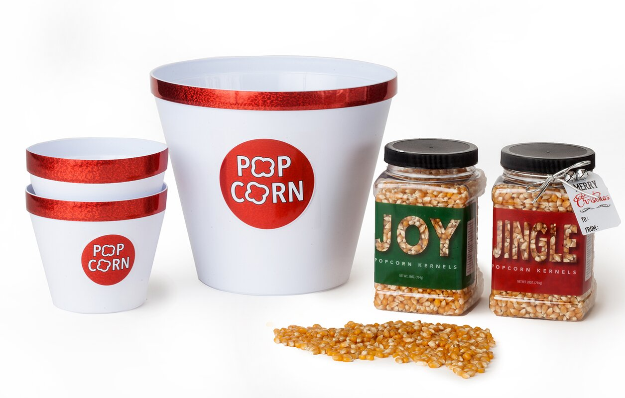 Wabash Valley Farms Holiday Popcorn with Sparkle Bowls