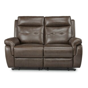 Shop Sasheer Leather Reclining Loveseat by Latitude Run
