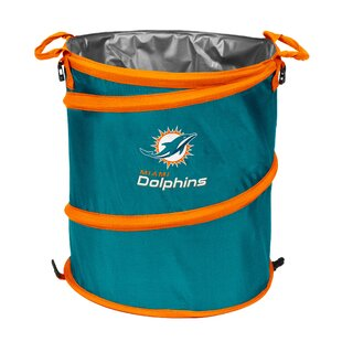 Logo Brands NFL Collapsible 13 Waste Basket