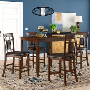 Leger 5 Piece Counter Height Dining Set Millwood Pines