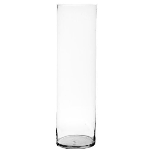 Three Posts Clear Glass Cylinder Vase Reviews Wayfair