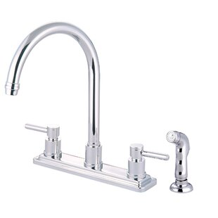 Elements of Design South Beach Double Handle Kitchen Faucet with Side Spray