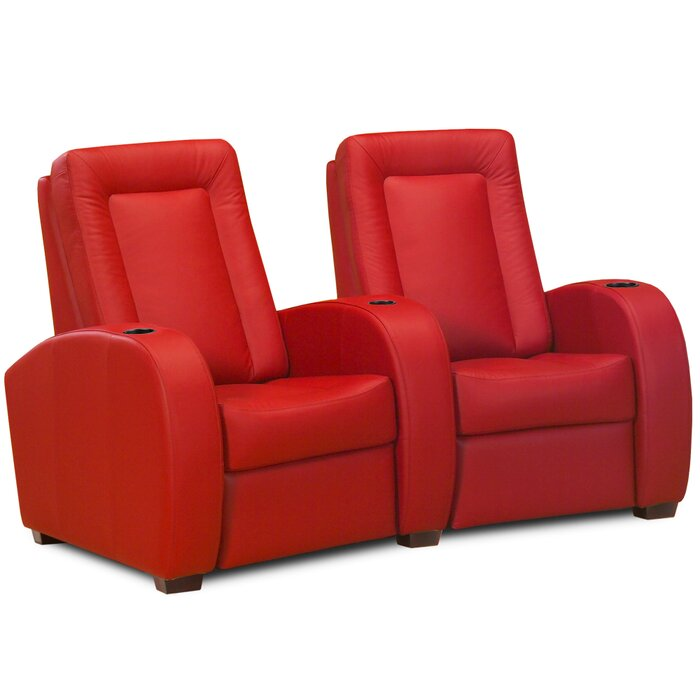 Astounding Leather Home Theater Loveseat Row Of 2 Dailytribune Chair Design For Home Dailytribuneorg