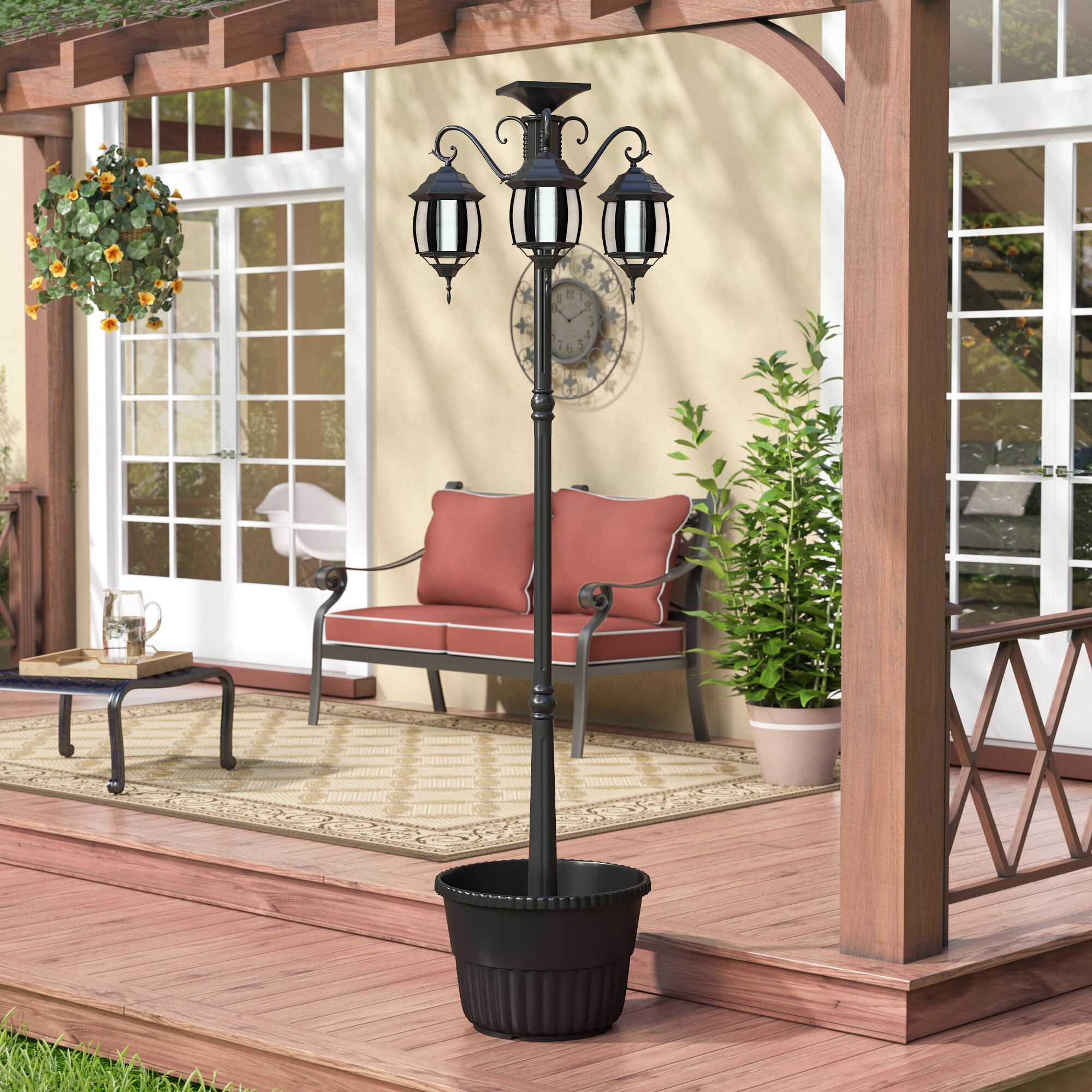 ebay planter itm lamp solar post abigail with res