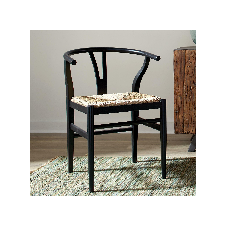 Birch Lane Delmont Solid Wood Slat Back Side Chair In Glossy Black Wayfair