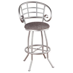 Hunley 26 Swivel Bar Stool Red Barrel Studio