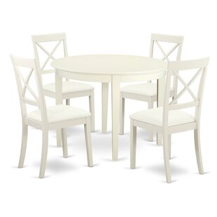Hillhouse 5 Piece Solid Wood Dining Set b..