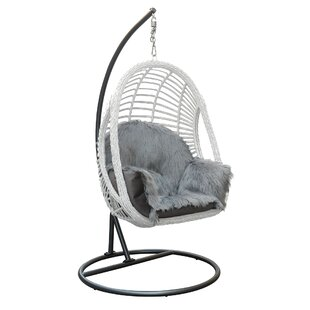 Aveza Titanium Swing Chair with Stand by Bungalow Rose