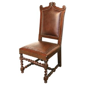 New World Trading Diego Leather Side Chair (Set of 4) Image