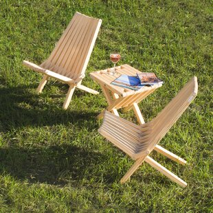 Solid Wood Folding Adirondack Chair (Set of 2)