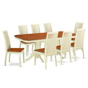 Pillsbury 9 Piece Solid Wood Dining Set August Grove