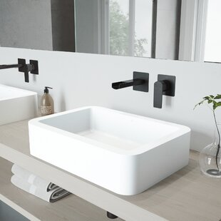 Shop For Petunia Stone Rectangular Vessel Bathroom Sink with Faucet By VIGO