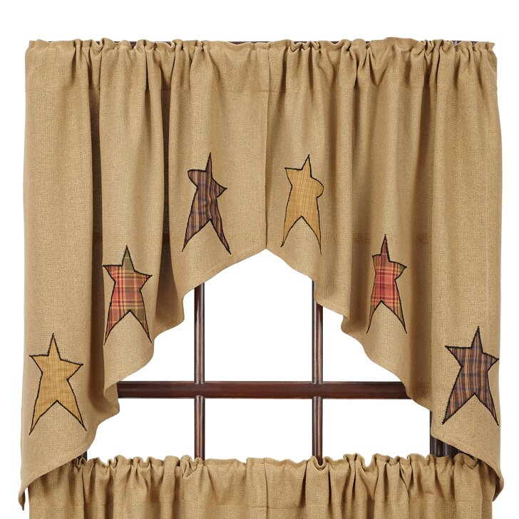 August Grove Applique Star 36 Curtain Valance Reviews Wayfair