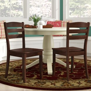 Liggett Contemporary Solid Wood Dining Chair (Set of 2) by Three Posts