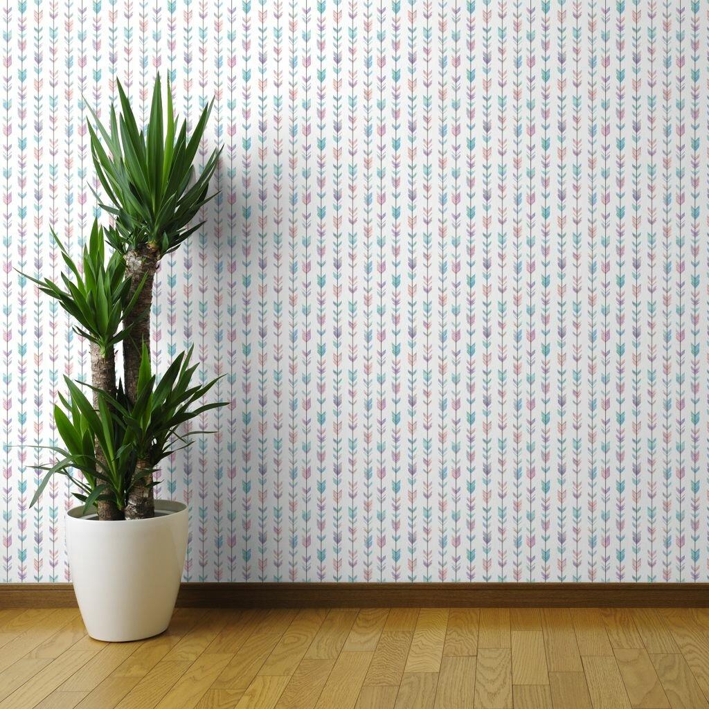 Spoonflower 1 L X 24 W Textured Peel And Stick Wallpaper Panel Wayfair