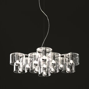 Oluce Fiore 13-Light Shaded Ch..