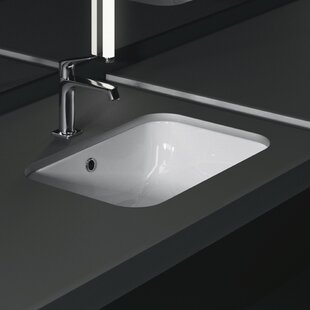 Best Panorama Ceramic Rectangular Undermount Bathroom Sink with Overflow By GSI Collection