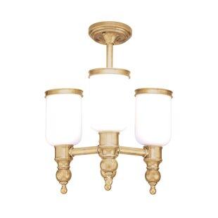 Darby Home Co Elma 3-Light Semi Flush Mount