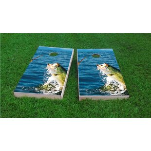 Custom Cornhole Boards Bass Fishing Cornhole Game Set