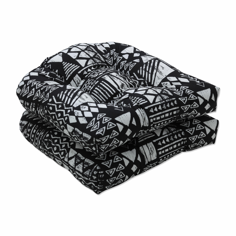 Foundry Select Geo Block Black Indoor Outdoor Seat Cushion Wayfair