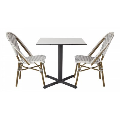 Avery Outdoor 3 Piece Bistro Set by Madbury Road #1