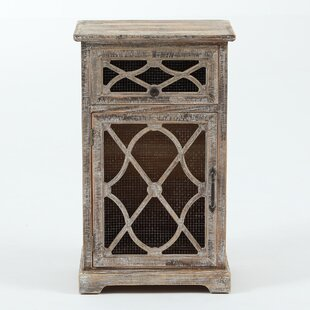 Read Reviews Falmouth Rustic Wood and Metal Accent Cabinet By August Grove