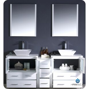 Deals Torino 72 Double Bathroom Vanity with Mirror By Fresca
