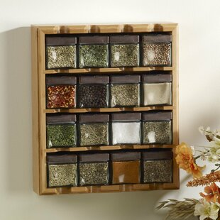Bamboo Inspirations 16 Jar Spice Jar & Rack Set