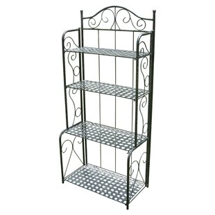 Three Posts Snowberry Wrought Iron Baker's Rack