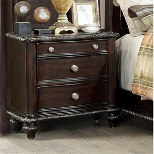 Maximilian 3 Drawer Nightstand by Astoria Grand