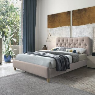 Allemans Double (4'6) Upholstered Bed Frame By August Grove