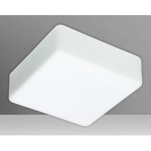 Check Prices Geo 1-Light Outdoor Flush Mount By Besa Lighting