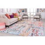 Christman Red/Blue Area Rug by Bungalow Rose