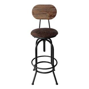 Gracie Oaks Peavey Adjustable Height Swivel Bar Stool