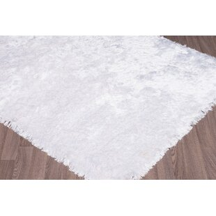 Buy luxury Bourg Hand-Woven White Area Rug ByEverly Quinn