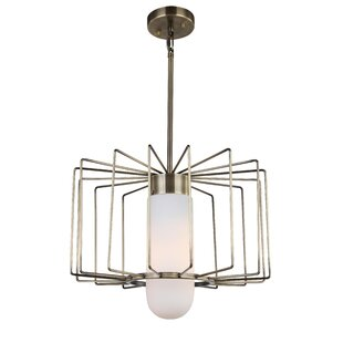 Wrought Studio Happel 1-Light LED Drum Pendant