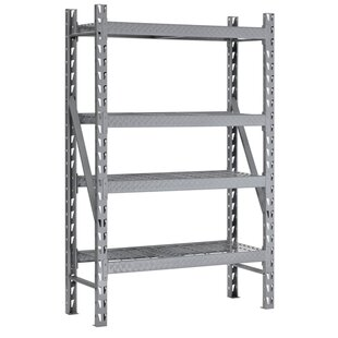 Sandusky Cabinets 4-Shelf Steel Tread Plate Commercial Shelving Unit